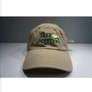 NEW 2011 Masters Golf Augusta Tan Hat Adjustable
